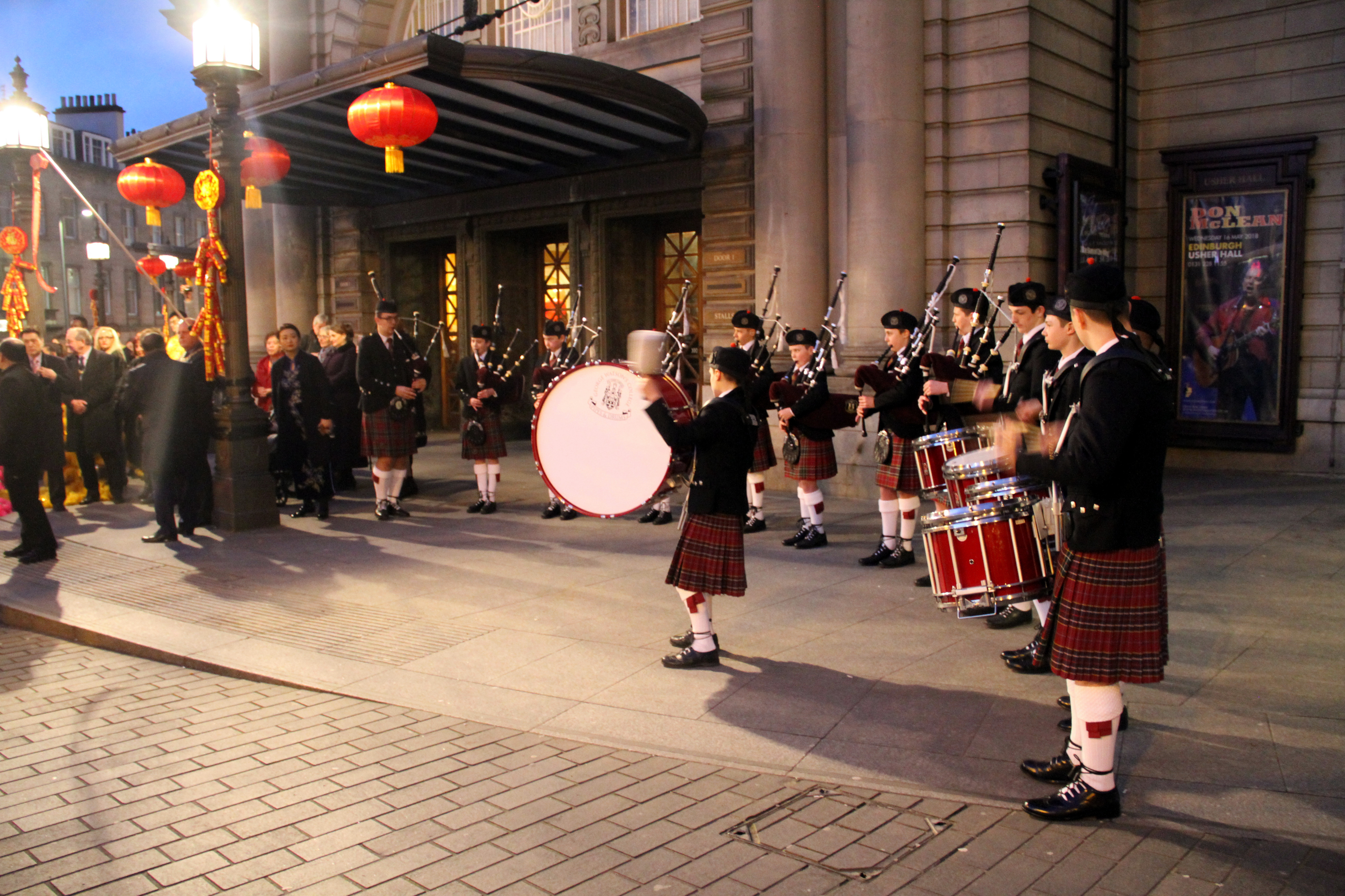 2018 chinese new year reception and concert held in edinburgh on the evening of 22th of february usher hall was glittering at night with decorations of chinese red lanterns the firecrackers were crackling and malvernweather Image collections